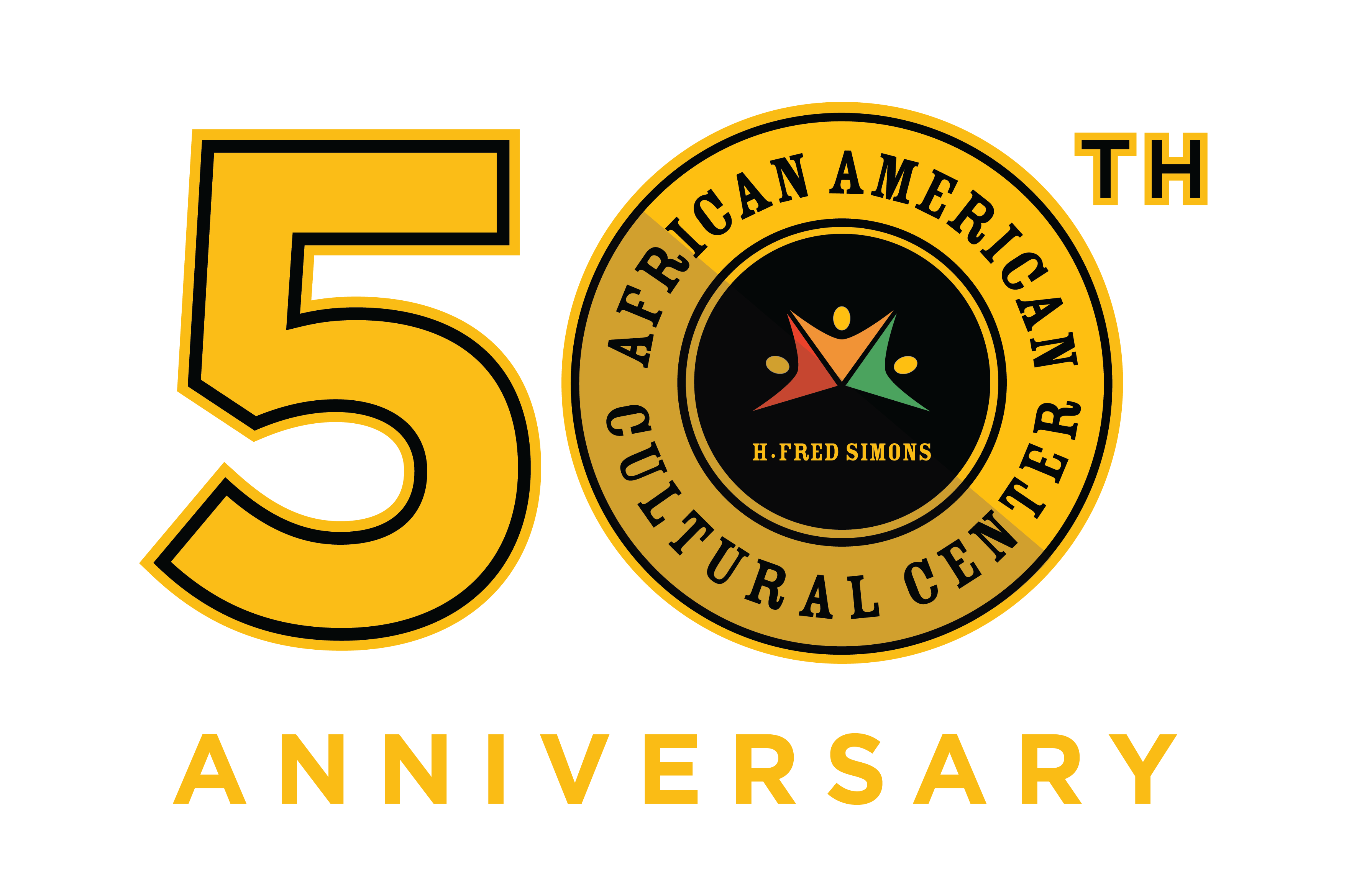 African American Cultural Center 50th Anniversary Logo
